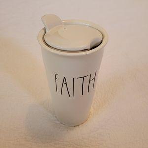 Rae Dunn Faith Travel Mug